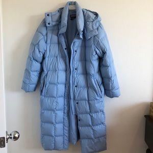 Lands end cozy powder blue down jacket